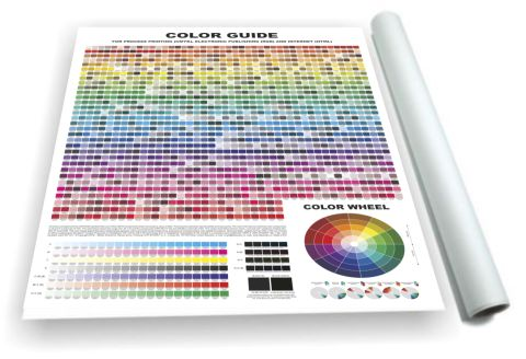 Coated COLOR GUIDE  for process printing and web design