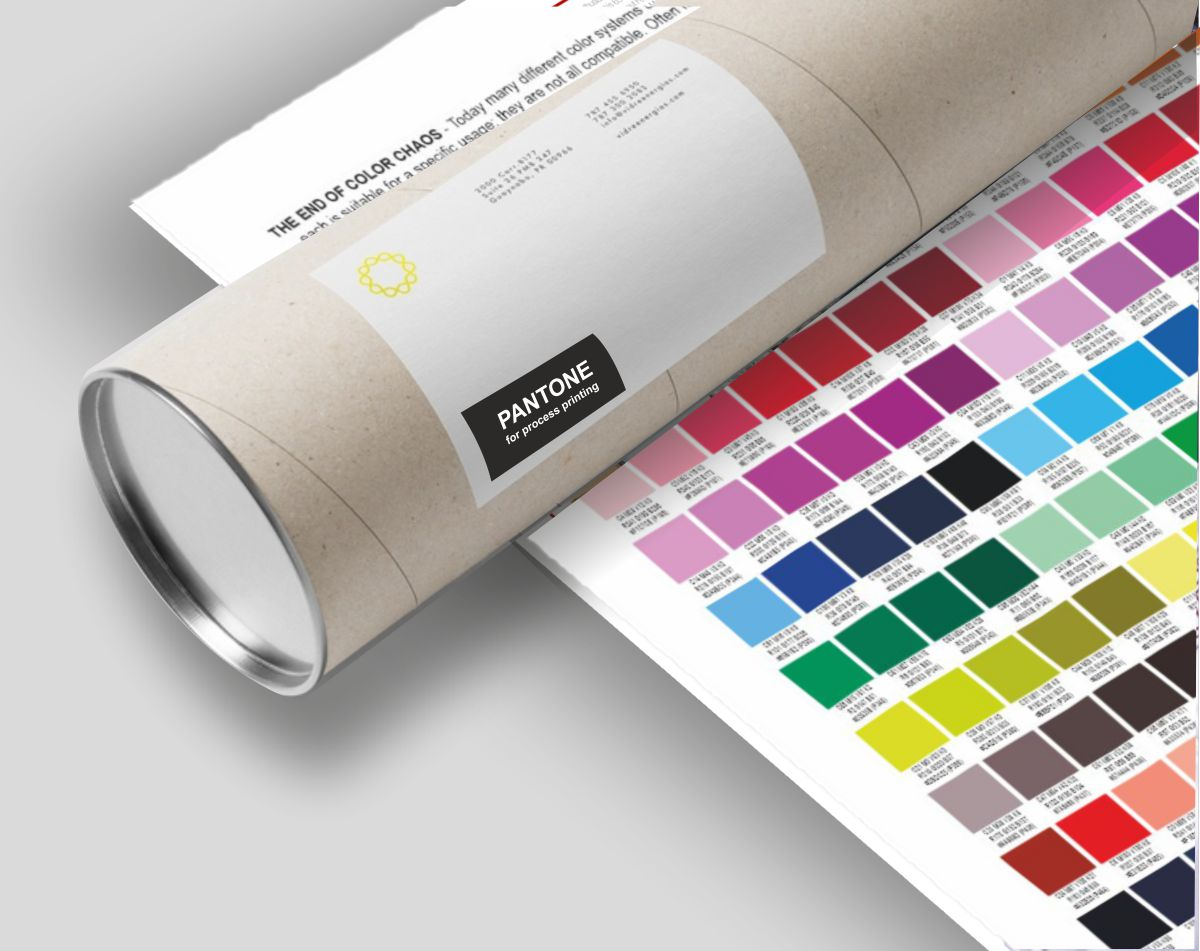 PANTONE COLORS for process printing Coated
