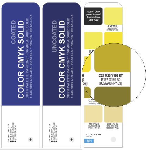 COLOR CMYK SOLID COATED/UNCOATED
